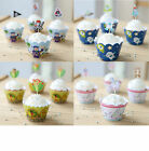 PK12 CUPCAKE LINERS WRAPPERS & CAKE TOPPERS BIRTHDAY EVENT PARTY SUPPIES DECOR