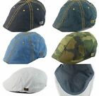 Mens Vintage Look 6pannel Duck Bill Curved Ivy Drivers Hat One Size-Elastic Band