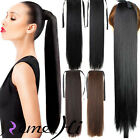 100% Human Hair Extension Straight Ponytail Clip-in Many Length 100g Cheap