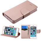 Rose Gold Leather Flip Card Wallet Case Cover Stand For Apple iPhone SE /5 5S