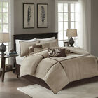 BEAUTIFUL ULTRA SOFT MODERN TAUPE BEIGE CASUAL BROWN TAN COZY COMFORTER SET