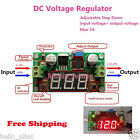 LED DC-DC Digital Buck Step Down Converter 5-36V to 3-36V 12V 24V 3A Adjustable