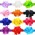 Big Bow Hair Clips Baby Hair Accessories With Clip Boutique Grosgrain Ribbon