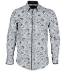 GUIDE LONDON Mens New Arrival Casual L/S Designer LS74027 SHIRT White Black