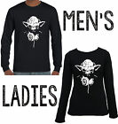 Yoda headphones star wars Cool Long Sleeve T-shirts tops Funny Men's Women's New $23.21 AUD