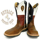 Twisted X Men's Texas Flag Lite Square Toe Work Boots MLCW007