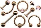 PIERCING SEPTUM TRAGUS HELIX LIPPE NASE AUGENBRAUE OHR INTIM SERIE BRONZE-STYLE