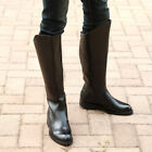Men's Military Boots PU Leather Knee High Equestrian Fashion Riding Boots 4Y-US
