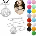 Silver Chain Necklace Fragrance Open Locket Aromatherapy Essential Oils Pendant