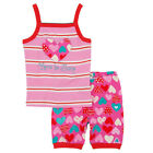 BNWT Girls Hatley Crazy Hearts Love To Sleep Vest Top Pyjama Set NEW Pajamas PJs