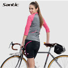 Santic Women Cycling Half Sleeve Shorts Sports Anti-sweat Casual Wear T-shirt