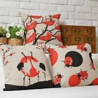 """Modern Red And Black Art Pillow Case Sofa Decor Cushion Cover Square 17"""" Linen"""
