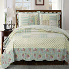 3PC Shabby Chic Annabel OVERSIZED Coverlet Set 100% Microfiber for comfort image