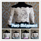 Lace Bolero Jacket for Wedding Bridemaids Dresses Evening Coat Short Sleeve 6ZS