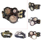 Outdoor Army Dual time Paracord Survival Watch With Compass Thermometer