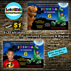 THE GOOD DINOSAUR SPOT ARLO PERSONALISED BIRTHDAY PARTY INVITATION - 1 ONLY