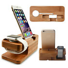 Wood Bamboo Charging Dock Station Charger Stand Holder For Huawei Watch & Phones