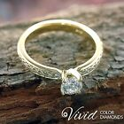 Round Cut Diamond Engagement Ring Size 7 14k Solid Gold 1.36 TCW SI I-J Enhanced