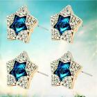 1 Pair Ear Stud Earrings Shinning Rehinestone Charm Beauty Clear Stone  Gift  BH