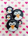 Pair of Penguin Face Ear Plugs Tunnels Gauges- 6mm - 24mm