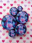 Pair of Galaxy Space Cats Ear Plugs Gauges- 6mm - 25mm