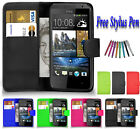 Magnetic Leather Side Wallet Flip Book Case Cover For Various HTC Mobile Phones