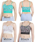 D2D Women's Junior Size Sexy Summer Floral Bra Straps Lace Padded Crop Tank Top