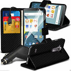 Leather Executive Book Wallet Phone Case Cover+In Car Charger for Lumia