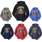 Neon Painting Bernese Mountain Dog Adult Sweatshirt Hooded Pullover