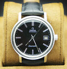 Vintage Omega Seamaster Black Cal 1020 Automatic 17 Jewels Men's Watch Day Date