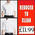 "Mens Ex-FaMouS STORE WHITE SHORT SLEEVE COTTON RICH TWILL SHIRTS 15.5"" - 18"""