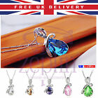 Crystal Angel Necklace for Women Water Drop Pendant Smart Chain Gift Mothering