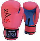 Ladies Leather Boxing Gloves Gel Padded Sparring Punch Bag Training Mitts Gloves