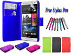 PU Leather Side Open Book Flip Wallet Case Cover Holder For HTC DESIRE 620 UK
