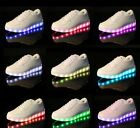 Unisex LED Light Luminous Shoes Sportswear Lace Up Casual Sneakers USB Charger