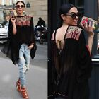 2 COLOR BLOGGER STYLISH FLORAL EMBROIDERED KIMONO DRESS JACKET FLOWING COAT