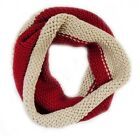 NEW NATURAL SOFT VINTAGE INFINITY WARM KNIT ENDLESS LOOP SCARF 1356 / RED