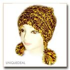 NEW FASHION WOMEN WINTER BEANIE KNITTED Snow Ball Hat Multi Color / YELLOW -A33