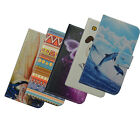 For ZTE BLADE A460 pu leathe cartoon Floral Cell phone case cover card wallet