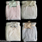 BABY BOYS GIRL SUPER SOFT WAFFLE BLANKET WRAP GIFT 75x90cm PINK BLUE WHITE CREAM