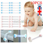 UK 10Pcs Kids Baby Pet Safety Lock Proof Door Fridge Cupboard Wardrobe Drawer