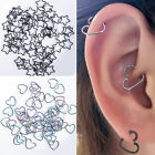 15x Surgical Steel Heart Ring Piercing Hoop Earring Helix Cartilage Tragus Daith
