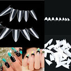 500PCS White Clear Natural False Point Stiletto French Acrylic UV Gel Nail Tips