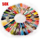 50/100PCS Cross Stitch Cotton Embroidery Thread Floss Sewing Skeins Craft Gift