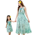 summer 2016 Family Mother daughter dresses clothes Baby Girls long Vest Dress