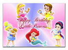c021 Large Personalised Birthday card; Custom made for any name; Baby Princesses