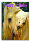 c022; Large Personalised Birthday card; Custom made for any name; Baby unicorn