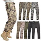 Mens Military Tactical Combat Camouflage Waterproof Pants Camping Long Trousers
