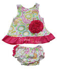 NWOT girls infant baby newborn ruffle swing top bloomer spring summer outfit