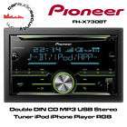 Pioneer FH-X730BT - Double DIN CD MP3 USB Stereo Tuner iPod iPhone Player RGB